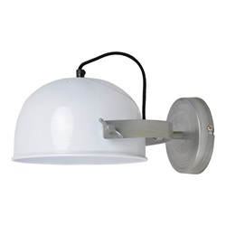 Urban interiors - Wall lamp Retro Ø22cm Glossy white