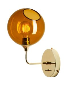 Ballroom væglampe amber