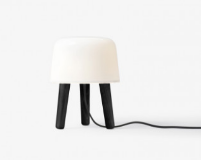 Milk Bordlampe m. Sorte ben